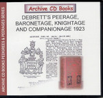 Debrett's Peerage, Baronetage, Knightage and Companionage 1923