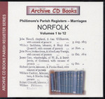 Norfolk Phillimore Parish Registers (Marriages) Volumes 1-12