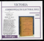 Victoria Commonwealth Electoral Roll 1922 Bendigo