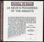 Le Neve's Pedigrees of Knights