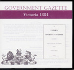 Victorian Government Gazette 1884