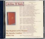 London Parish Registers: St Thomas the Apostle, London 1558-1754