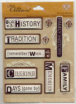 K & Company Sticker Medley Heritage Words
