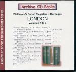 London Phillimore's Parish Registers (Marriages) Volumes 1-4