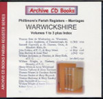 Warwickshire Phillimore's Parish Registers (Marriages) Volumes 1-3 plus Index