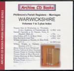 Warwickshire Phillimore's Parish Registers (Marriages) Volumes 1-3 plus Index