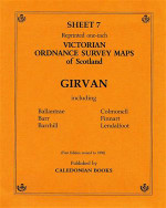 Scottish Victorian Ordnance Survey Map No. 7 Girvan