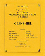 Scottish Victorian Ordnance Survey Map No. 72 Glenshiel