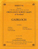 Scottish Victorian Ordnance Survey Map No. 91 Gairloch