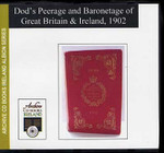 Dod's Peerage and Baronetage of Great Britain and Ireland 1902