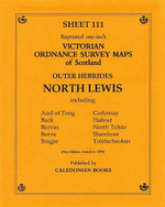 Scottish Victorian Ordnance Survey Map No. 111 North Lewis