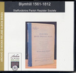 Staffordshire Parish Registers: Blymhill 1561-1812 1