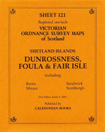 Scottish Victorian Ordnance Survey Map No. 121 Dunrossness, Foula and Fair Isle