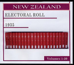 New Zealand Electoral Roll 1935 Volumes 1-20