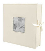 Pioneer 12x12 Sewn Frame-Box Scrapbook Album (Wedding White)