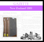 New Zealand Gazette 1881