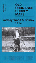Town Map Warwickshire: Yardley Wood and Shirley 1914