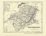 County Map of Wales: Montgomeryshire