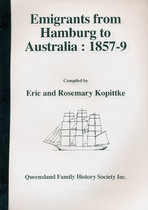 Emigrants From Hamburg to Australia 1857-59