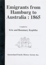 Emigrants From Hamburg to Australia 1865