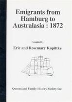 Emigrants From Hamburg to Australia 1872