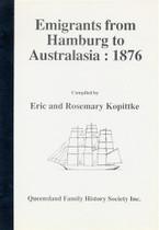 Emigrants From Hamburg to Australia 1876