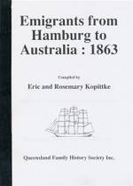 Emigrants From Hamburg to Australia 1863