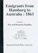 Emigrants From Hamburg to Australia 1863