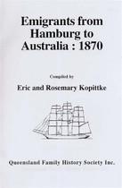 Emigrants From Hamburg to Australia 1870