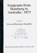 Emigrants from Hamburg to Australia 1873