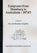 Emigrants from Hamburg to Australasia 1874/1875