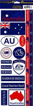 Reminisce Passport Stickers: Australia