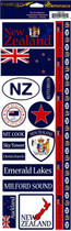 Reminisce Passport Stickers: New Zealand