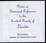 Notes on Historical References to the Scottish Family of Lauder
