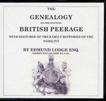 The Genealogy of the Existing British Peerage