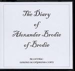 The Diary of Alexander Brodie of Brodie