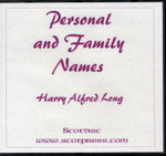 Personal and Family Names 1