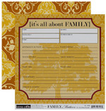 Teresa Collins 8x8 Double-Sided It's All About Family