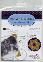3L Classic Photo Corners: Gold (pack 108)