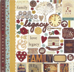 Simple Stories 12x12 Legacy Fundamentals Stickers