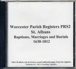Worcestershire Parish Registers: St Albans 1630-1812
