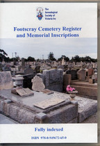 Footscray Cemetery Register and Memorial Inscriptions