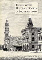 Journal of the Historical Society of South Australia Number 24 (1996)