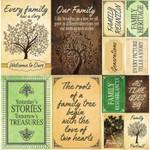 Reminisce 12x12 Family Tree Stickers