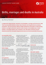Handy Guide: Births, Marriages and Deaths in Australia