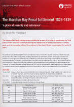 Handy Guide: The Moreton Bay Penal Settlement 1824-1839 'A Place of Security and Substance'