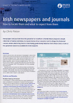 Handy Guide: Irish Newspapers and Journals: How to Locate Them and What to Expect from Them