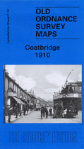 Town Map Glasgow and Lanarkshire: Coatbridge 1910