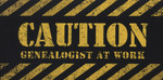 Caution: Genealogist at Work Sticker