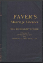 Yorkshire Parish Registers: York Marriage Licences 1630-1714